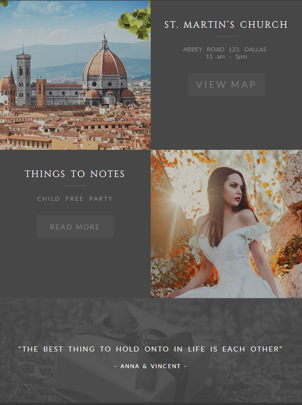 Offering Wide Scale Quality Elements With Wedding Invitation HTML Email Template