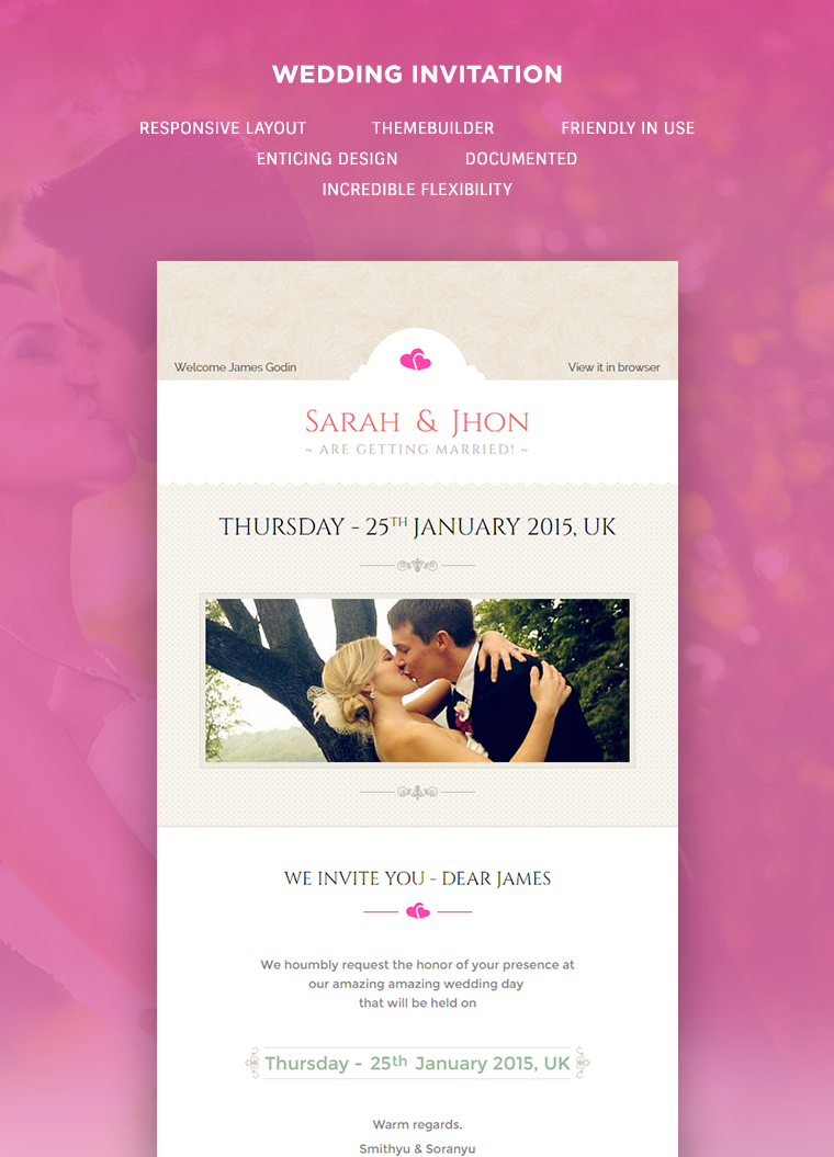 Wedding Invitation Newsletter