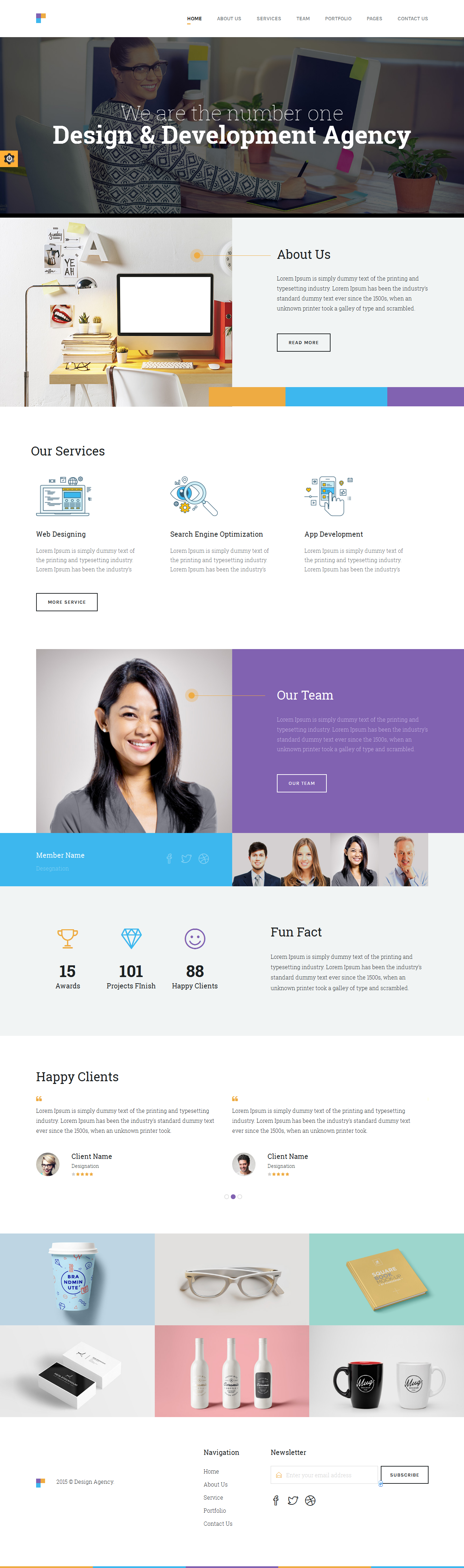 Revolution Slider Supported Digital Agency HTML5 Template