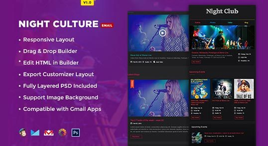 Night Culture Event Email Template