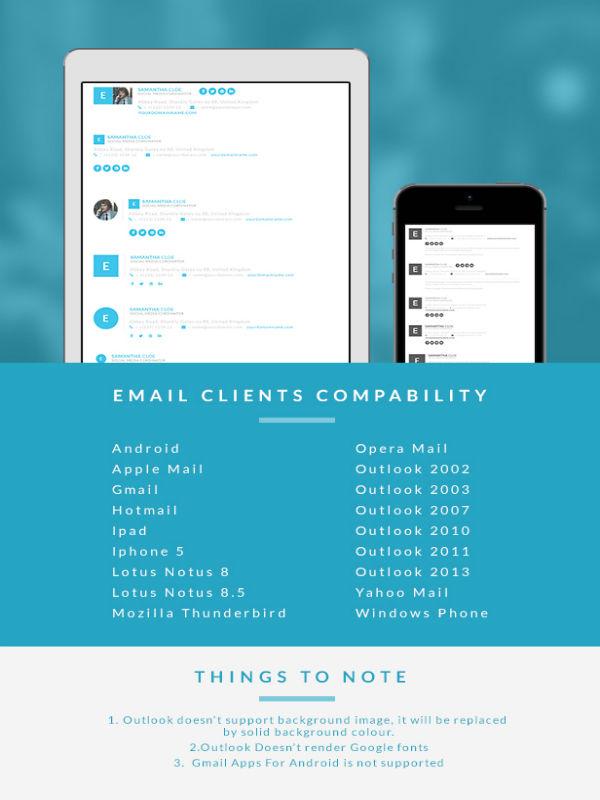 Responsive Signature E Mail Template Buy Premium Responsive