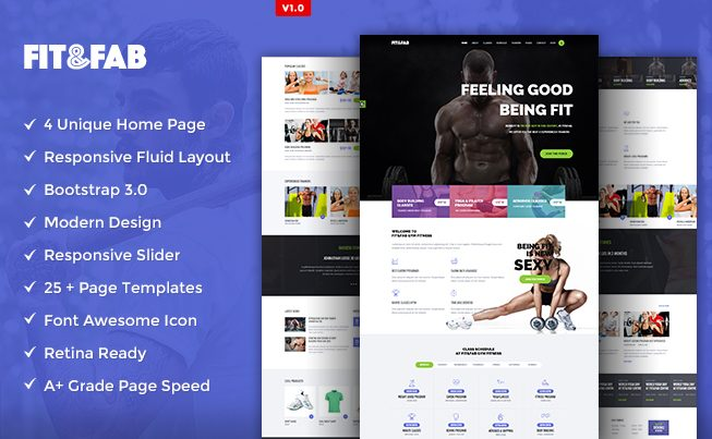 Gym & Fitness Responsive HTML5 Template