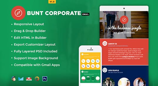 Bunt Corporate Email Newsletter Template Buy Premium Bunt – Corporate Newsletter Template