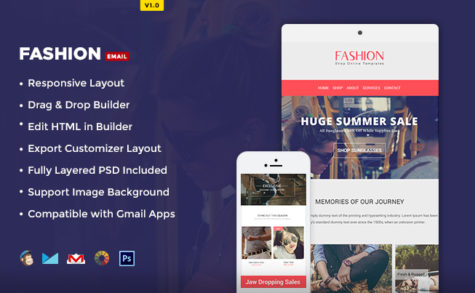 Fashion PSD E-Newsletter Template