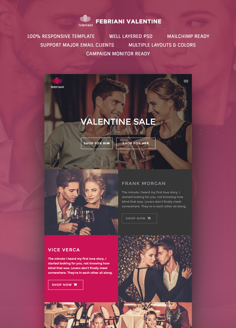 Febriani Valentine Email Template