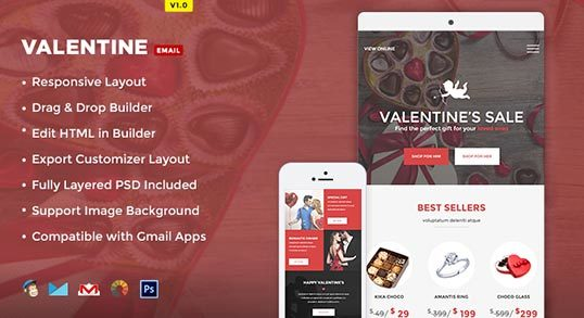 Valentine E-commerce Email Template