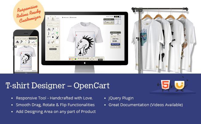 OpenCart T-Shirt Designer Tool