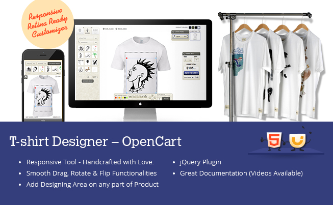 OpenCart T-Shirt Designer