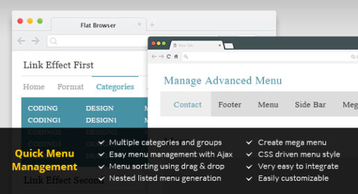 Quick Menu Manager for CodeIgniter