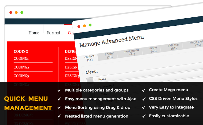 Quick Menu Manager CodeIgniter