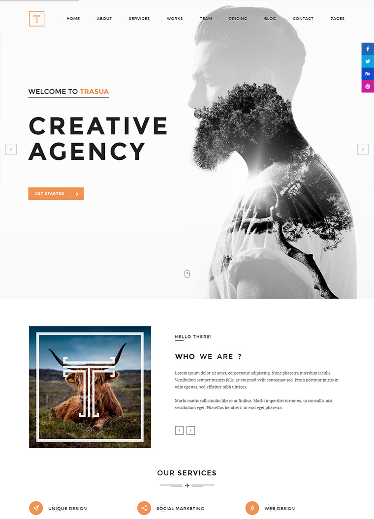 Trasua Creative Agency HTML5 Template
