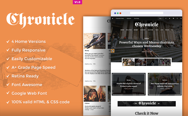 Chronicle News HTML5 Template