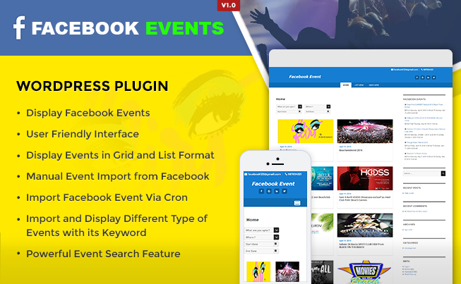 Facebook Events WordPress Plugin