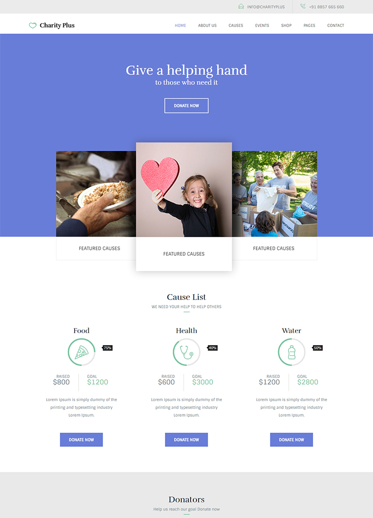 Charity Plus HTML5 Template