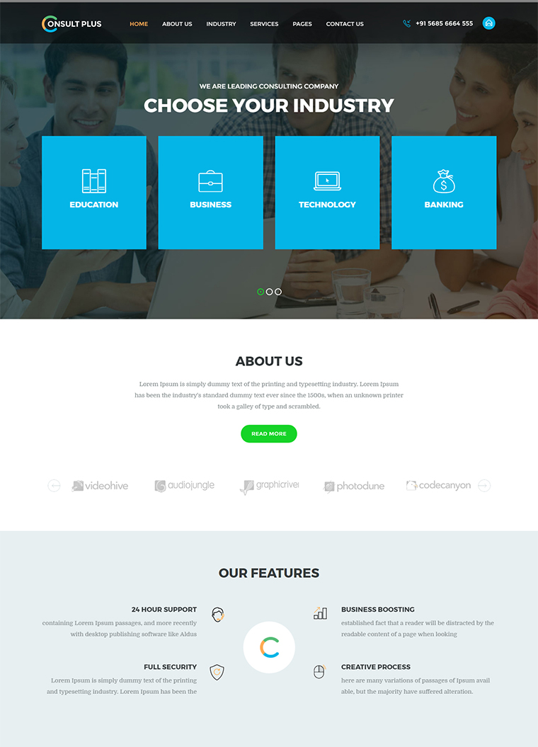 Consulting Html Template Buy Premium Consulting Html Template