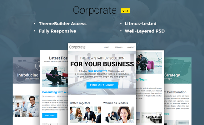 Corporate Multipurpose B2B newsletter