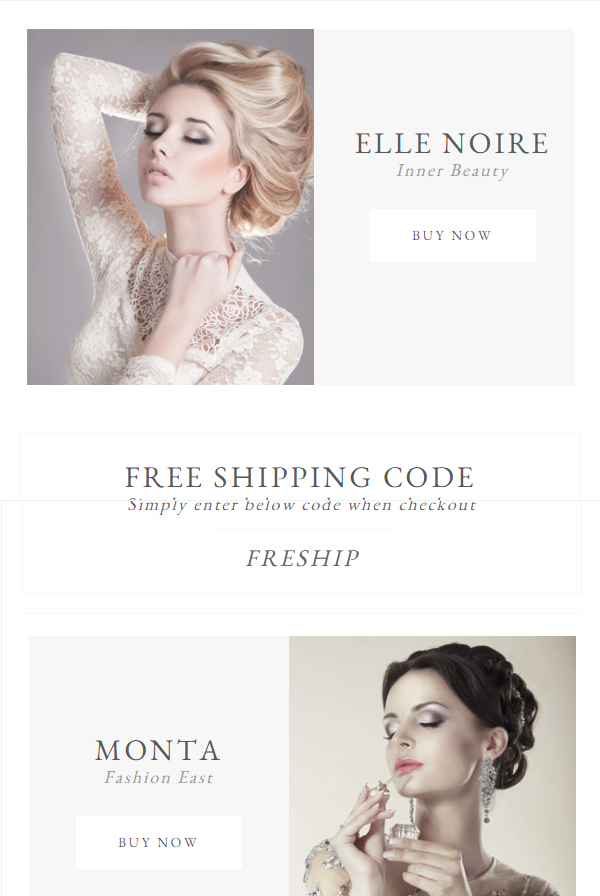 Minato- Fashion Email Template Aids in Great Email Marketing For Business