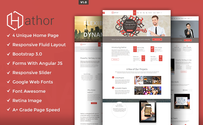 hathor html template