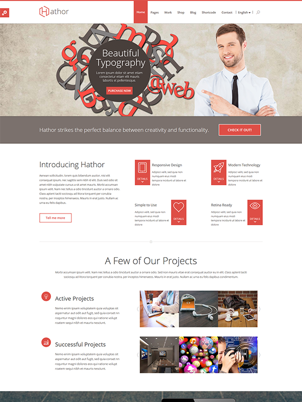 Hathor HTML Template Gives Your Website a WOW Look