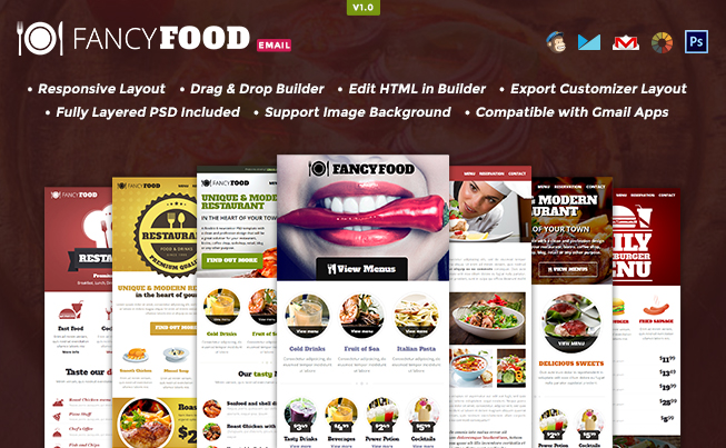 FancyFood Email Template