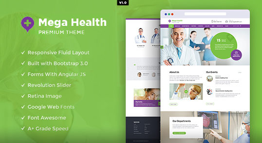 Mega Health HTML Template