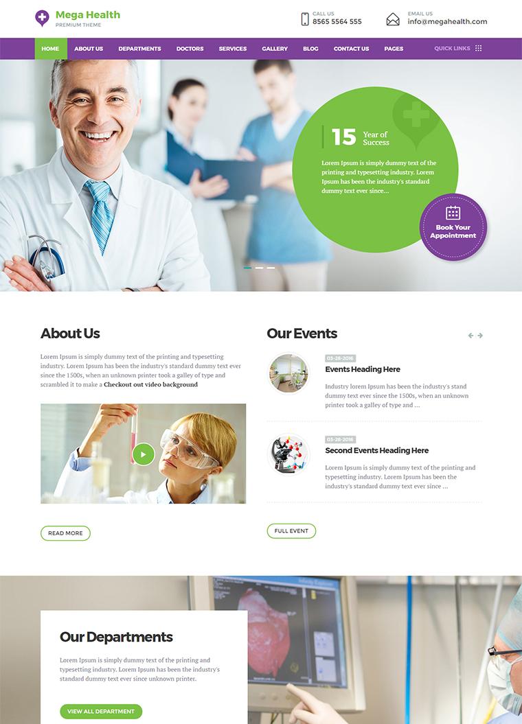 Mega Health HTML Template