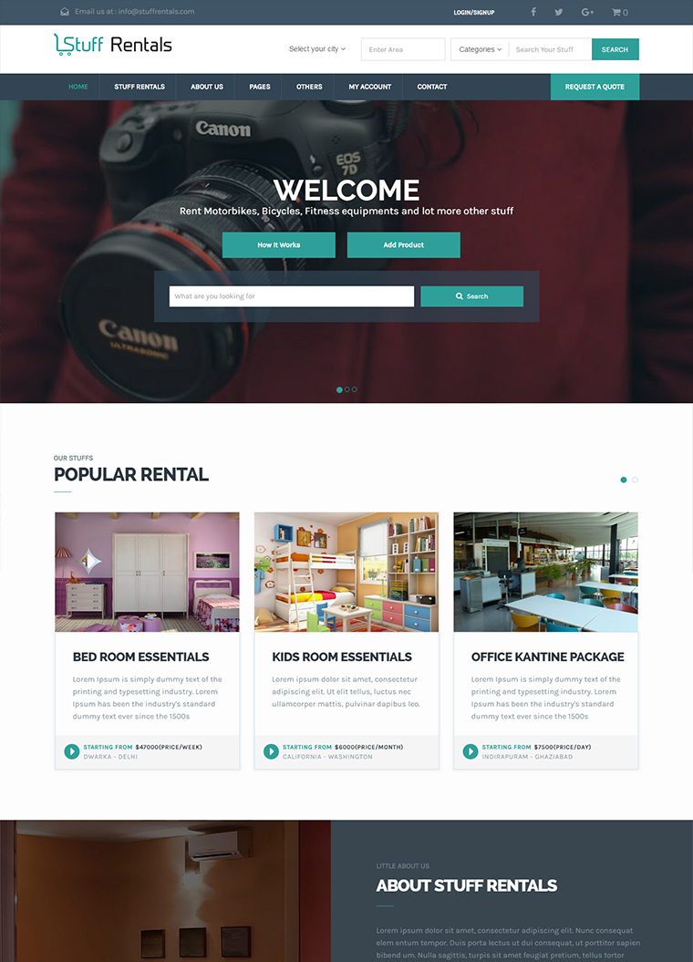 StuffRentals WordPress Theme