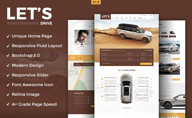 Let's Drive PSD Template