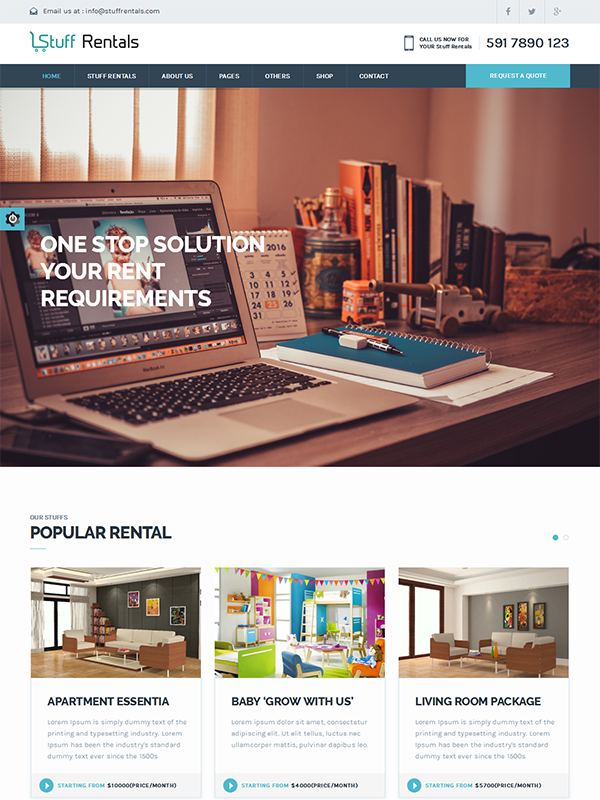 Stuff Rentals WordPress Theme- Give Wings To Your Rental Business