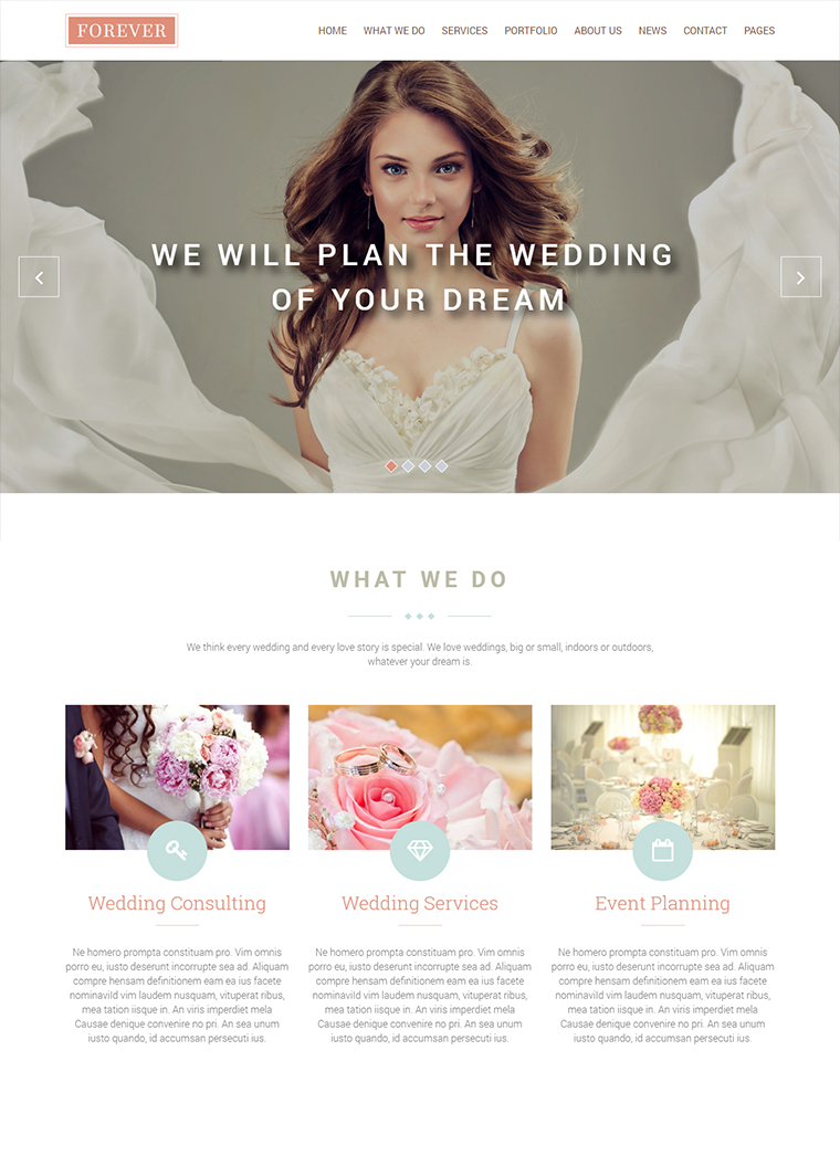Forever Wedding WordPress Theme: Buy Premium Forever Wedding ...