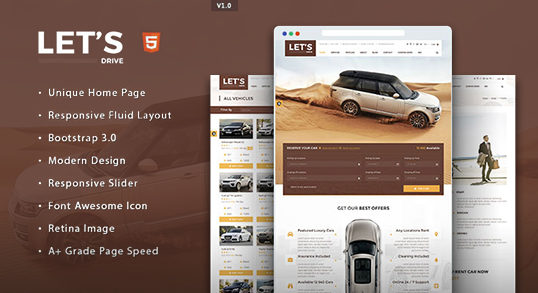 Business html templates premium business html templates theemon lets drive car rental html5 template cheaphphosting Images