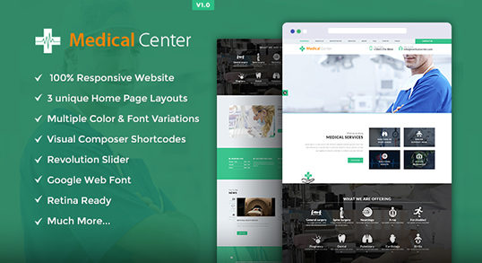 Medical Center WordPress Theme