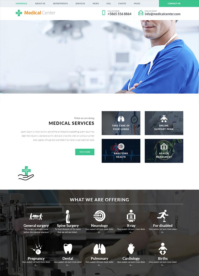 medical center wordpress theme  buy premium medical center wordpress theme