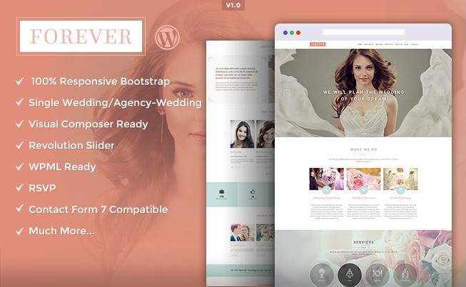 Forever Wedding WordPress Theme