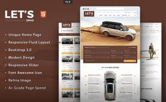 Let's Drive Car Rental HTML5 Template