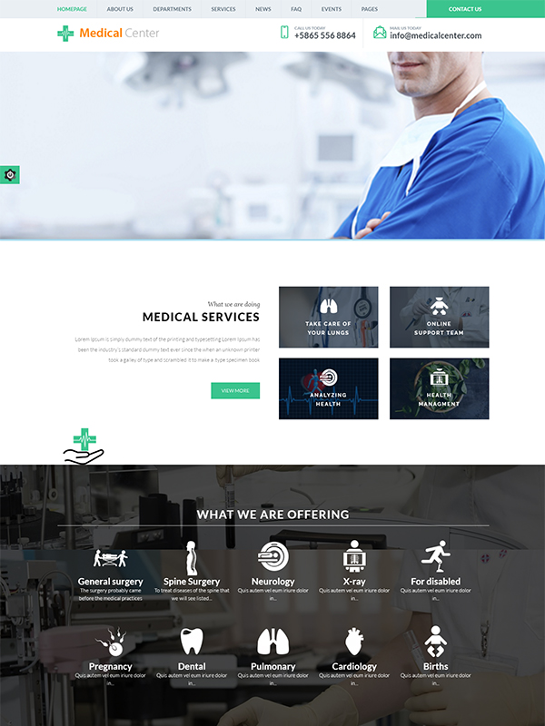 Medical Center WordPress Theme: Features To Complement Your Medical Center
