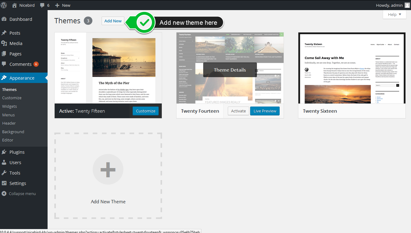 NiceBird WordPress Theme NiceBird theme Download and installation