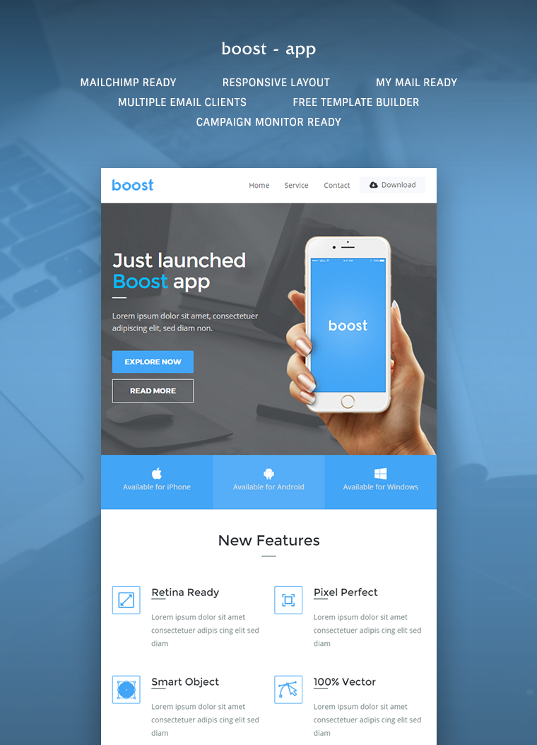 Boost app promotional email template buy premium boost for Free promotional email templates