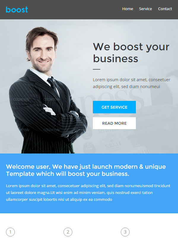 Boost Corporate B2B Newsletter Template: Buy Premium Boost