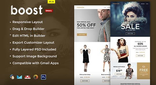 Boost E-commerce Newsletter Template