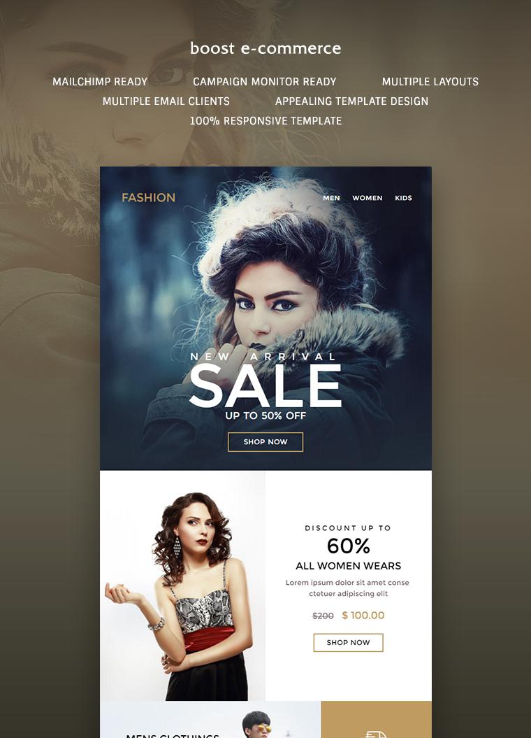 Boost E Commerce Newsletter Template Buy Premium Boost E Commerce Newsletter Template