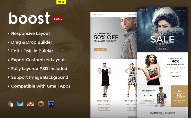 boost ecommerce email template