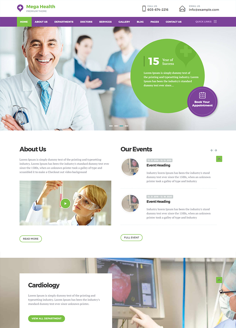 MegaHealth Medical WordPress Theme