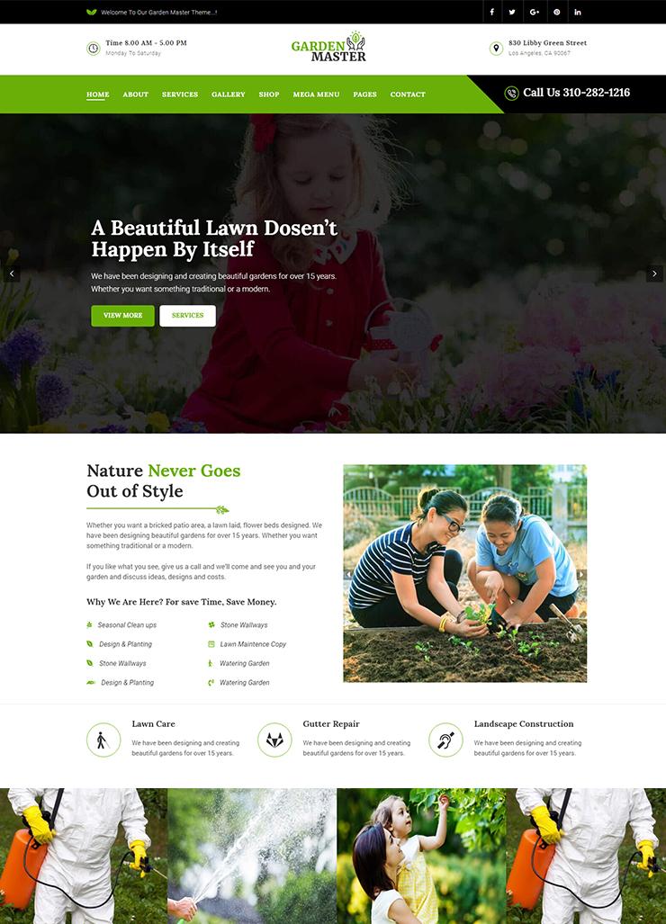 Gardening WordPress Theme