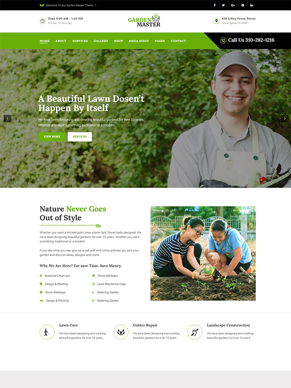Gardening Premium WordPress Theme