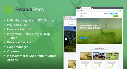 RescuePress Environmental WordPress Theme