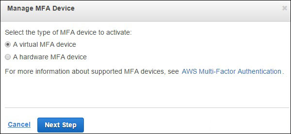 manage mfa device