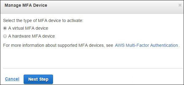 manage mfa device